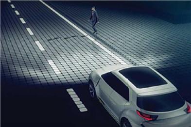 法雷奥推出外饰车灯系统,投影技术助力车间通信