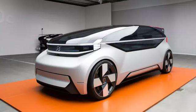 沃尔沃能实现全自动驾驶的纯电动概念车360c