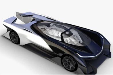法拉第概念车细节图曝光,搭载1000马力发动机