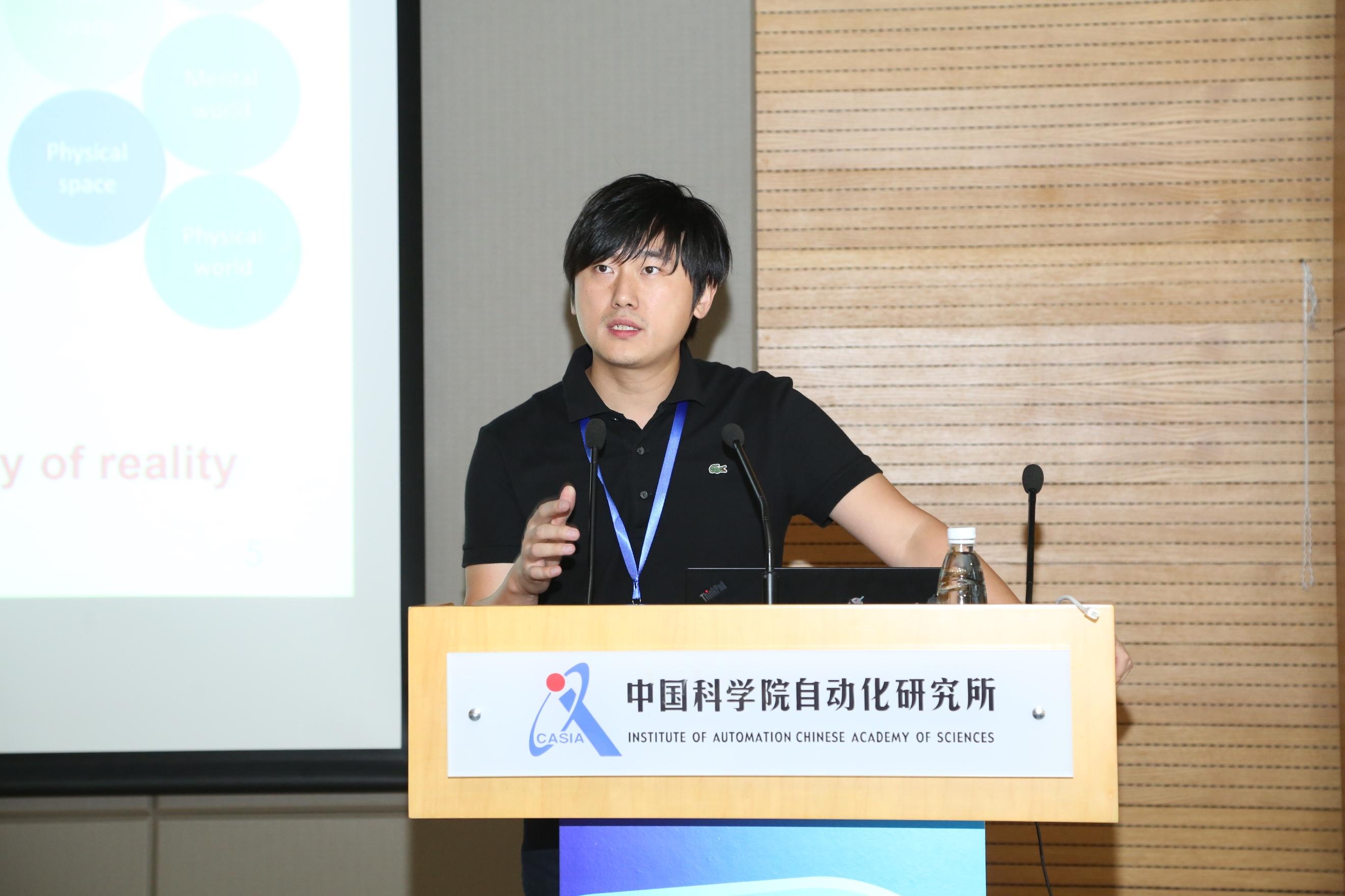 慧拓智能机器有限公司CEO陈龙作主旨演讲