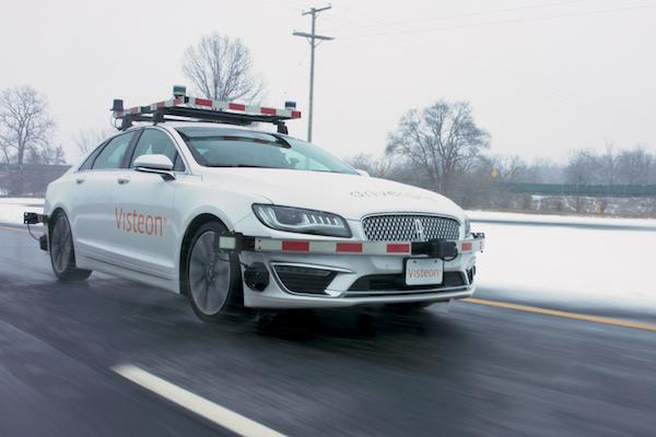 搭载DriveCore的伟世通自动驾驶测试车