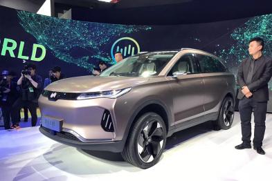 威马EX6亮相北京车展