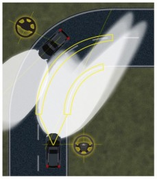 福特展示最新前照灯技术,可提醒前方行人/动物