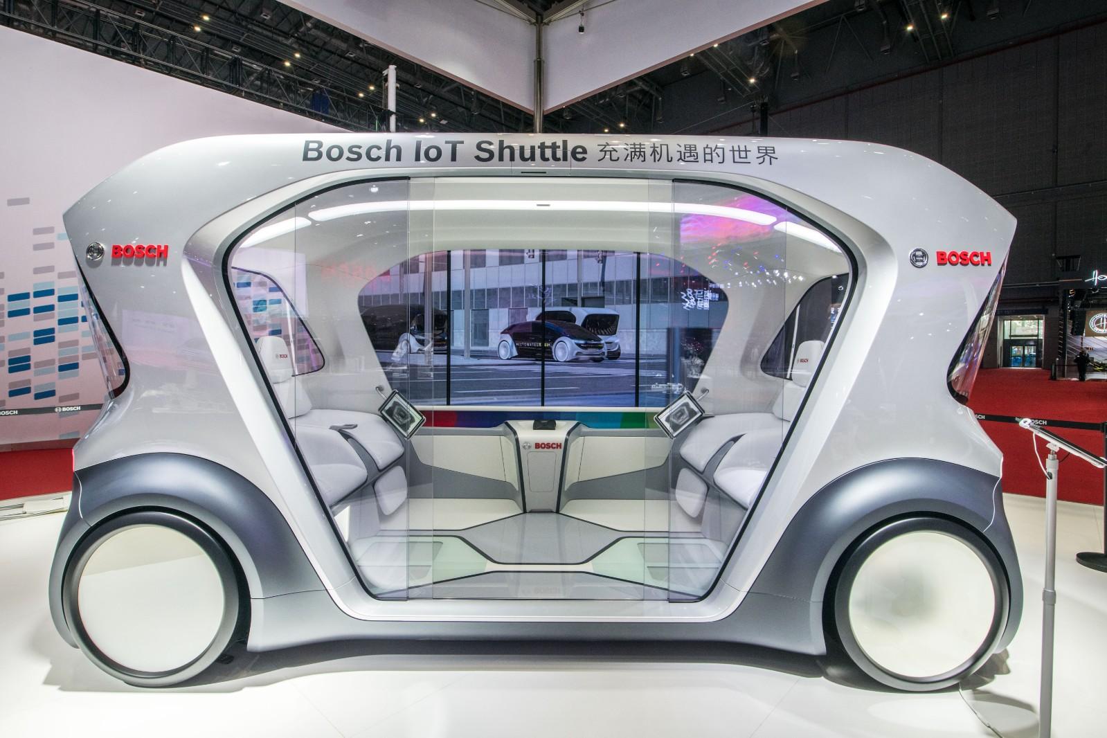 博世无人驾驶电动巴士概念车