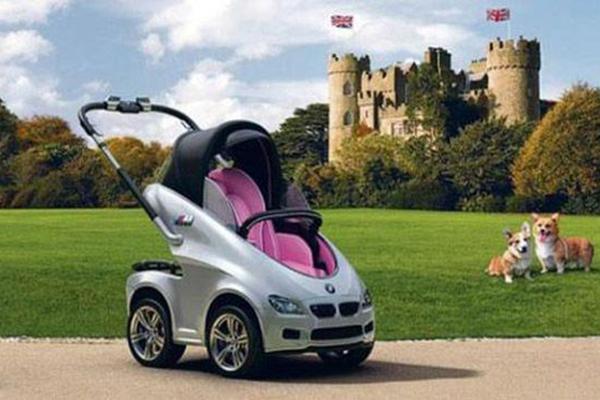 """宝马""""献""""给凯特王妃的皇家婴儿车"""