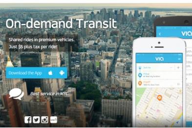在Uber和公交之间找定位,拼车服务Via获B轮融资2700万美金