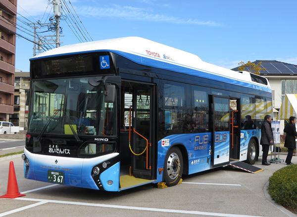 丰田在日本投入运营的氢燃料电池巴士