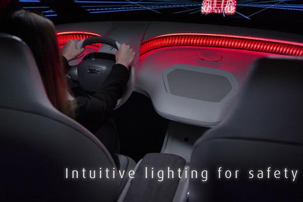 可用于安全警示的氛围灯光