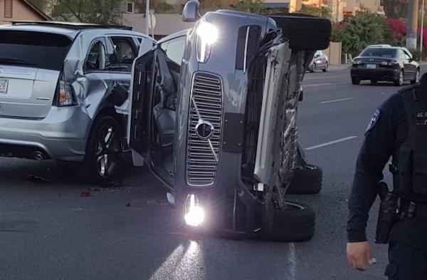 撞车事故现场