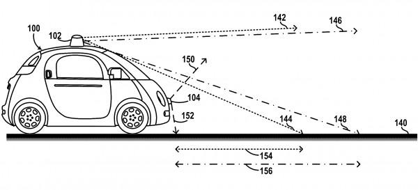 专利图显示Alphabet的无人驾驶测试车是如何通过激光雷达实时绘制地图的