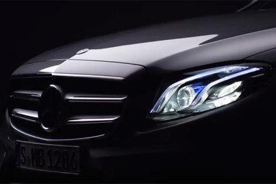 新一代奔驰E级将配多波束LED大灯,北美车展首发