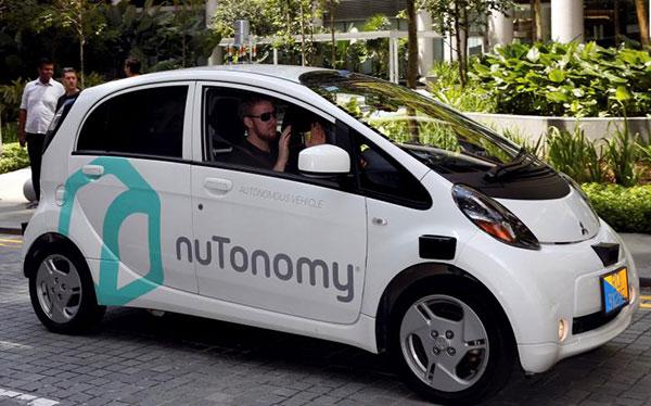 正在新加坡测试nuTonomy无人车