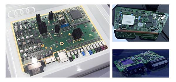 图中zFAS整块电路板上配备了多个处理器:英伟达Tegra K1处理器负责车身四周的摄像头和前向毫米波雷达、激光雷达的数据;前挡处摄像头采集的数据是交给Mobileye的EyeQ3来处理的。 第二,执行控制部分的冗余设计。 资料显示,从辅助驾驶(Assisted driving)到领航驾驶(Piloted driving),在执行控制部分,奥迪会设置两套刹车系统,两套转向系统,如果其中一套失效,另一套就能立刻替用。