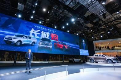 中国首款乘用化大皮卡长城炮全球首发