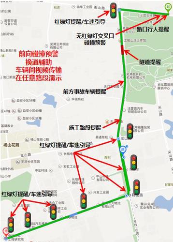 示范道路场景布局图