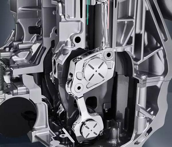 英菲尼迪VC-T可变压缩比涡轮增压发动机内部结构