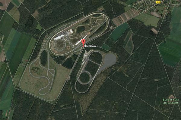 大陆Contidrom试车场的卫星俯瞰图