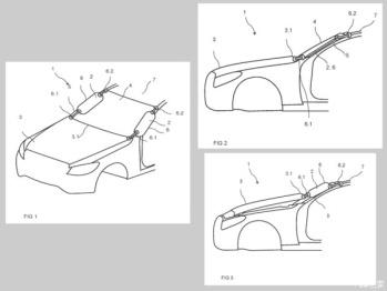 行人保护新技术,曝奔驰A柱气囊专利信息