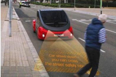 车头灯变投影仪,欧司朗Multi-LED模块现身Oasis概念车